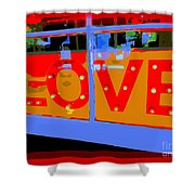 Love  In Lights Shower Curtain