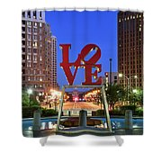 Love In Philadelphia Shower Curtain