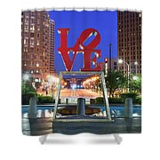 Love In Philly Shower Curtain