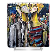 Love In The City Shower Curtain