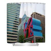 Love In The City - Philadelphia Shower Curtain