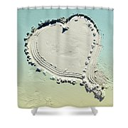 Love In The Sand Shower Curtain