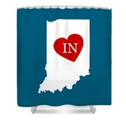 Love Indiana White Shower Curtain