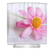 Love Is A Flower Shower Curtain
