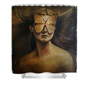 Love Is Blindness.  Shower Curtain