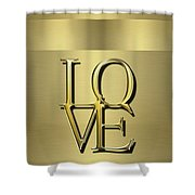Love Is Golden Shower Curtain