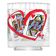 Love Is In The Cards Shower Curtain