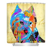 Love Is In The Dog's Eyes  Shower Curtain