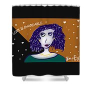 Love Is Shareable Shower Curtain