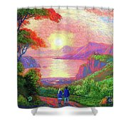Love Is Sharing The Journey Shower Curtain