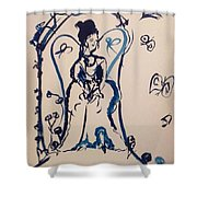 Love Is Waiting With Bells On Shower Curtain