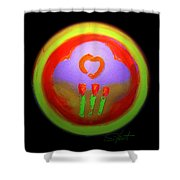 Love Landscape Three Shower Curtain