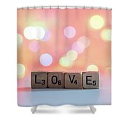 Love Lights Square Shower Curtain