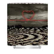 Love Lines Shower Curtain