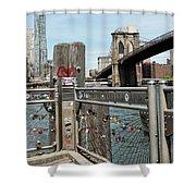 Love Locks In Brooklyn New York Shower Curtain