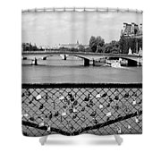 Love Locks Over The Seine Shower Curtain