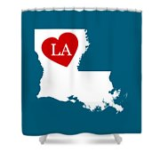Love Louisiana White Shower Curtain