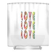 Love Love Love Phone Case Shower Curtain
