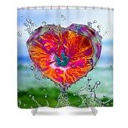 Love Makes A Splash Shower Curtain