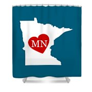 Love Minnesota White Shower Curtain