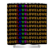 Love Neon 1 Shower Curtain
