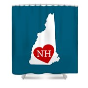 Love New Hampshire White Shower Curtain