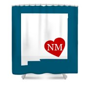 Love New Mexico White Shower Curtain