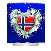 Love Norway 2 Shower Curtain
