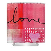 Love Notes- Art By Linda Woods Shower Curtain