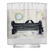 Love On A Bench Shower Curtain