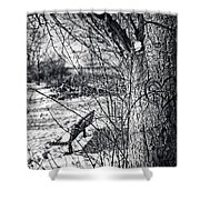 Love On A Tree Shower Curtain by CJ Schmit