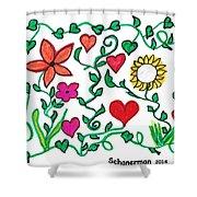 Love On The Vine Shower Curtain
