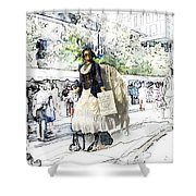 Love One Another - Steampunk Angel Shower Curtain