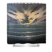 Love Over Gold Shower Curtain