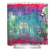 Love Painting Shower Curtain