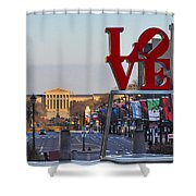 Love Park And The Parkway In Philadelphia Shower Curtain