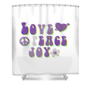 Love Peace And Joy Shower Curtain