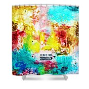 Love Poem Shower Curtain