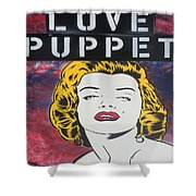 Love Puppet Shower Curtain