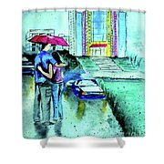 Love Rain Shower Curtain