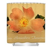 Love Remembers Tomorrow Shower Curtain