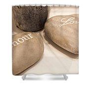 Love Rock Shower Curtain