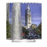 Love Sculpture Philadelphia  Shower Curtain