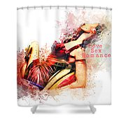 Love Sex Romance Shower Curtain