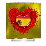 Love Spain Shower Curtain