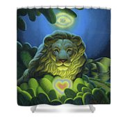 Love, Strength, Wisdom Shower Curtain