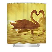 Love Swans Shower Curtain