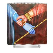 Symbol Of Love Shower Curtain
