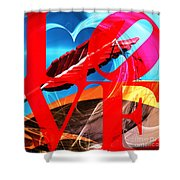 Love Swirls At The San Francisco Cupids Span Sculpture Dsc1819 Shower Curtain by Wingsdomain Art and Photography
