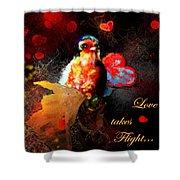 Love Takes Flight Shower Curtain